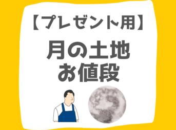 【プレゼント用】 月の土地 お値段