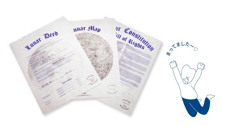 月の土地権利書